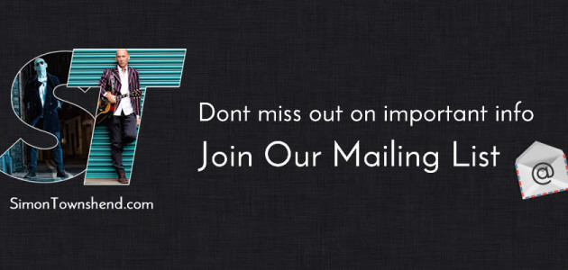 Join Simon's Mailing List