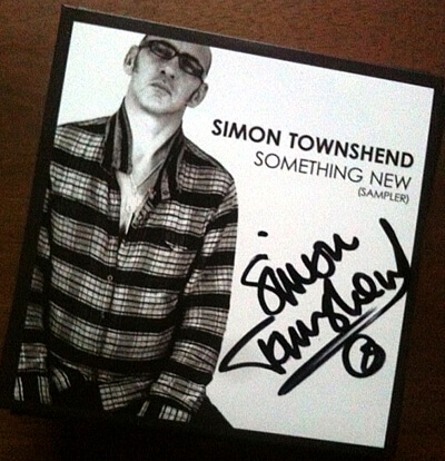 Simon Townshend EP Something New - autographed