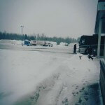 """Truck stop. Been driving all night in a blizzard. Still 5 hours to go - Thunder Bay (Neil Young's hometown) to Sudbury, ON. Everyone is asleep except myself and tour  manager, Shaun.... and driver. Had a good night last night - another great gig to genuine music loving crowd. Next stop London... ON."""