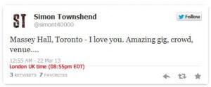 Si tweets Toronto