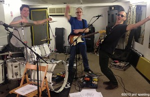 Rehearsals - notably absent - Phil Spalding - who was busy taking the photo - thanks Phil ! Spalding (