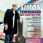 Simon's East Coast US dates are go!
