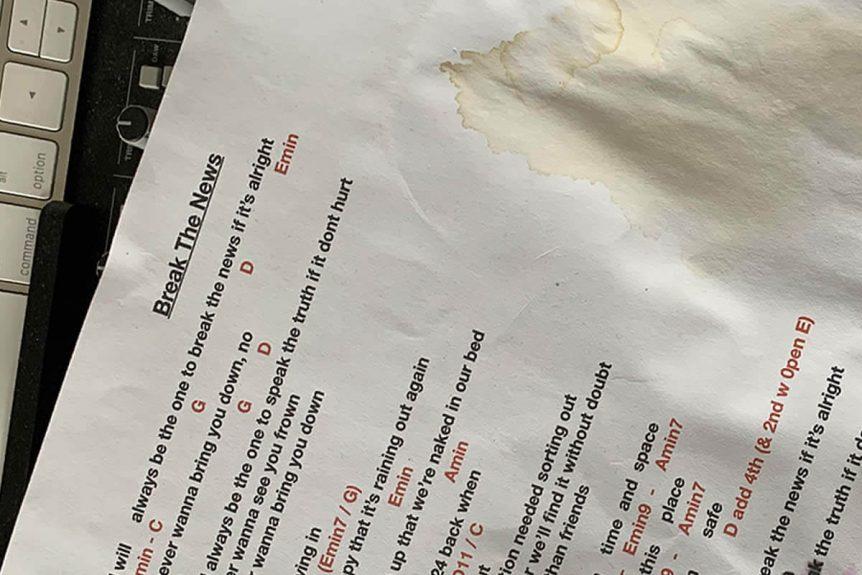 Break The News - lyric sheet